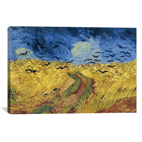 "Wheatfield With Crows // Vincent van Gogh // 1890 (26""W x 18""H x 0.75""D)"