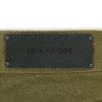 Fear Of God // Fifth Collection Green Denim Slim Fit Jeans // Green (28)