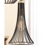 Wire Black Hanging Lamp