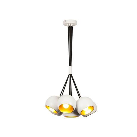 Multiple White Pendants Modern Lamp