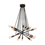 Waterfall Black + Copper Hanging Lamp