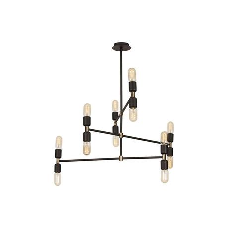 Modern Black + Gold Pendant Lamp