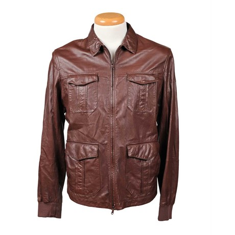 Cristian Leather Jacket // Red (XS)