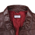 Cristian Leather Jacket // Red (M)