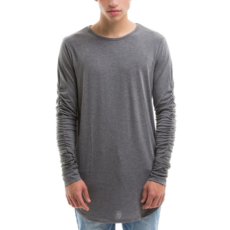 Scoop Cut Long Sleeve // Gray
