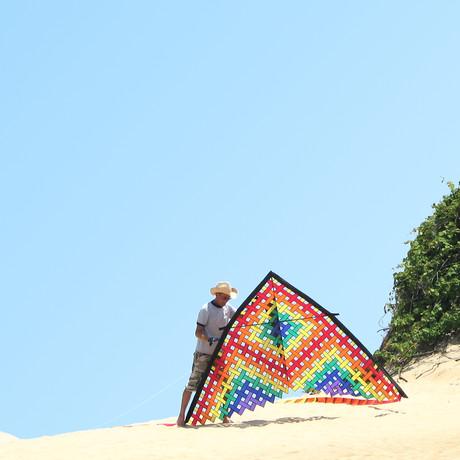 11 ft. Mesh Delta Kite // Rainbow Bundle