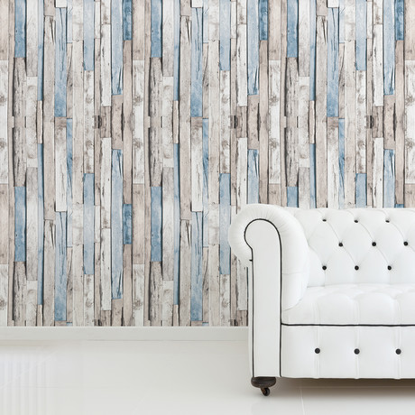 Brown Timber Strip // Wall Sticker