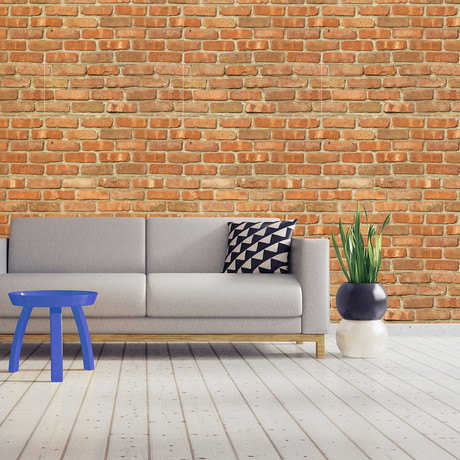 Topaz Brick Wall Panel // Wall Sticker