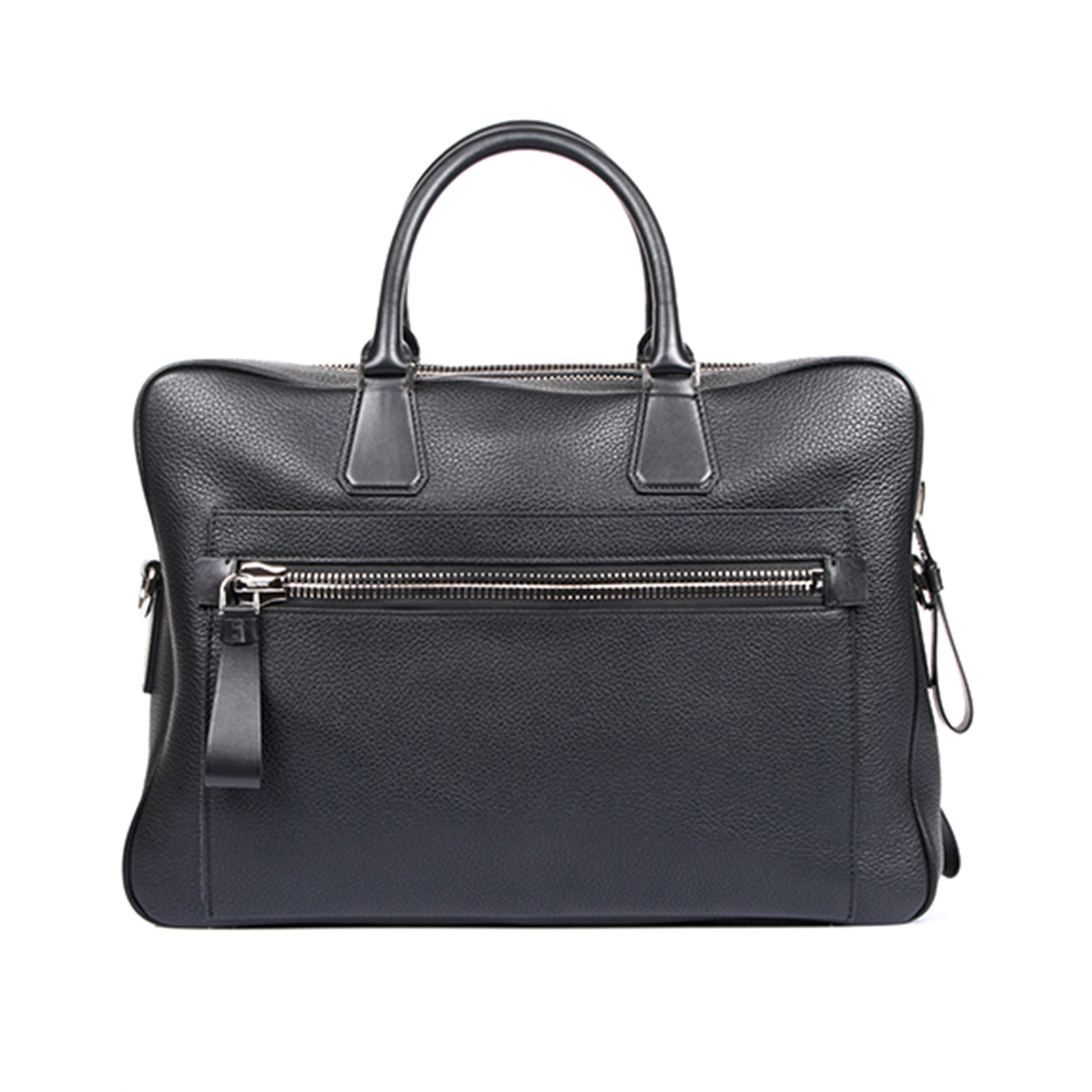 Double Zip Laptop Bag Black