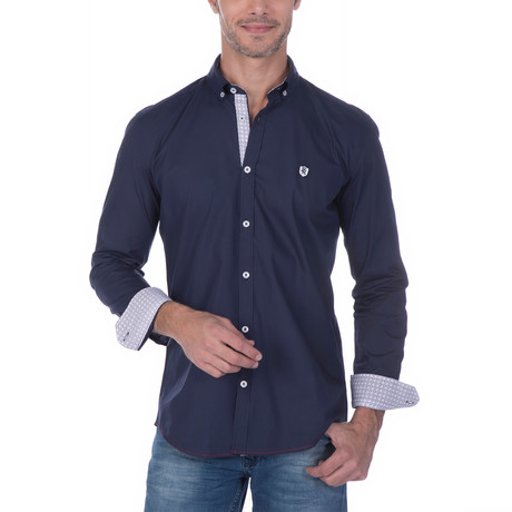 Bunker Button-Up // Navy (S)