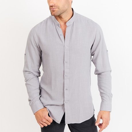 Button-Up Shirt // Gray (S)