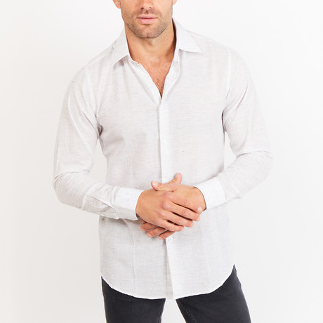 Button-Up Shirt // BL4 // White (S)