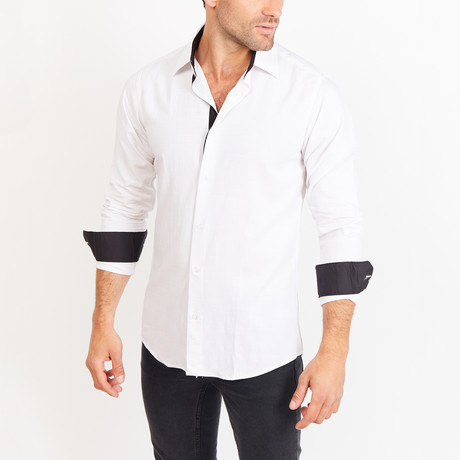 Button-Up Shirt // BL16 // White (S)