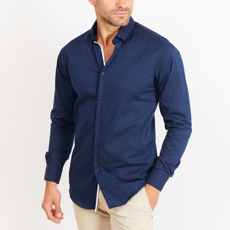 Button-Up Shirt // BL23 // Navy (S)