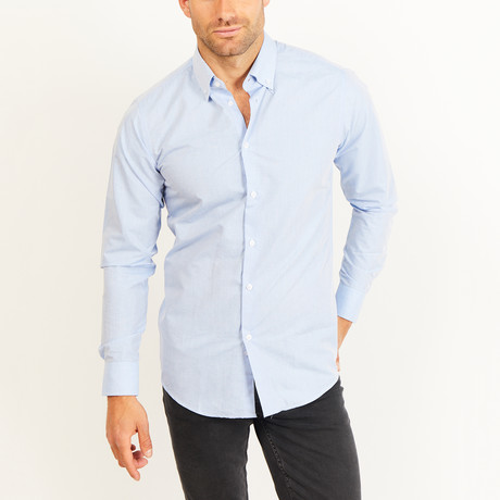 Button-Up Shirt // BL27 // Blue (S)
