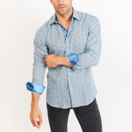 Button-Up Shirt // Two Tone Blue (S)