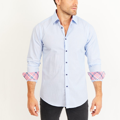 Button-Up Shirt // Light Blue (S)