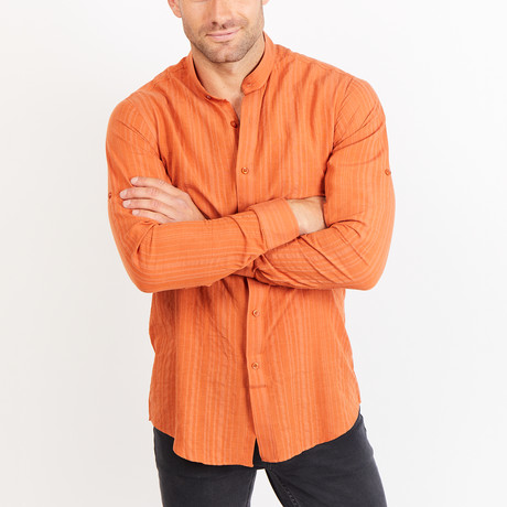 Button-Up Shirt // Orange (S)