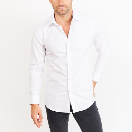 Button-Up Shirt // Bright White (S)