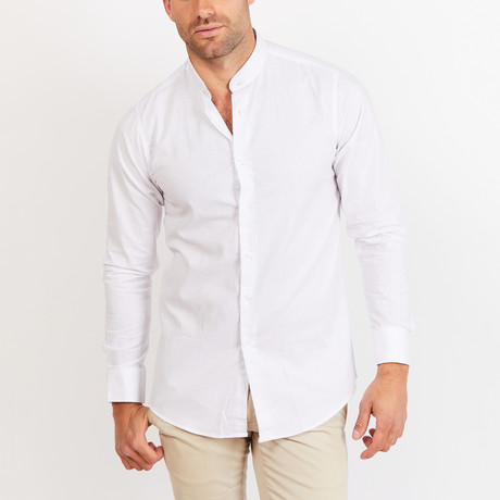 Button-Up Shirt // BL40 // White (S)