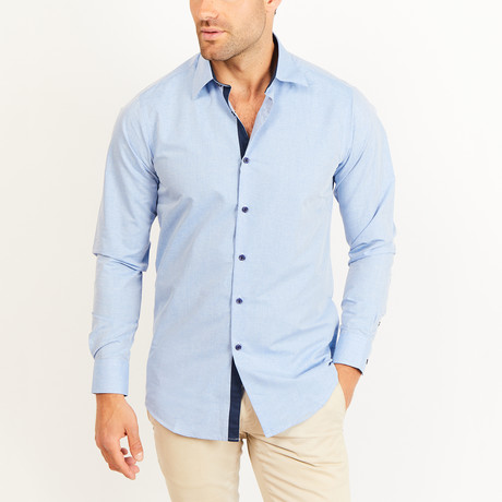 Button-Up Shirt // Slate Blue (S)