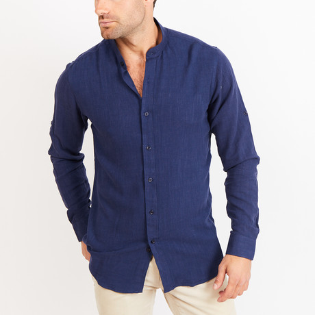 Button-Up Shirt // BL44 // Navy (S)