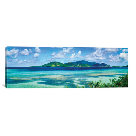 "Islands In The Sea, Leinster Bay, U.S. Virgin Islands // Panoramic Images (60""W x 20""H x 0.75""D)"