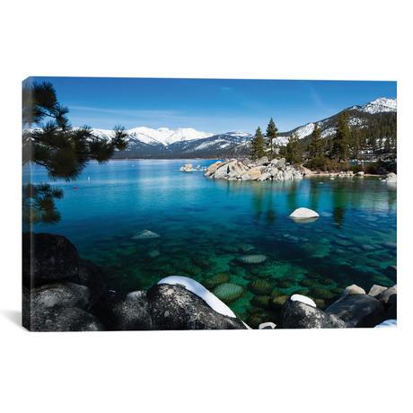 Rocks In A Lake, Lake Tahoe, California, USA V // Panoramic Images Canvas Print