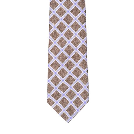 Formicola // Geometric Tie // Gray + Purple