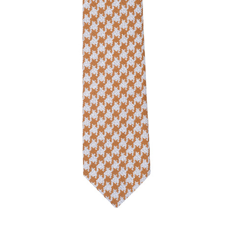 E. Formicola // Patterned Tie // Orange + White