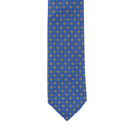 E Formicola Patterned Tie // Royal Blue