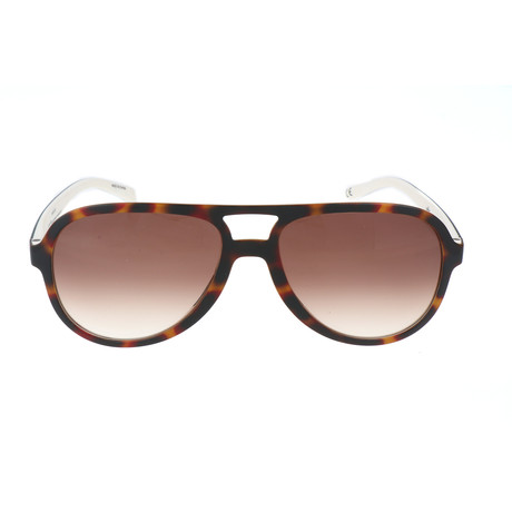 Unisex Nino Sunglasses // Havana Brown + White