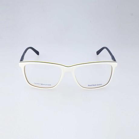 Men's 1317-335 Optical Frames // White + Blue + Yellow