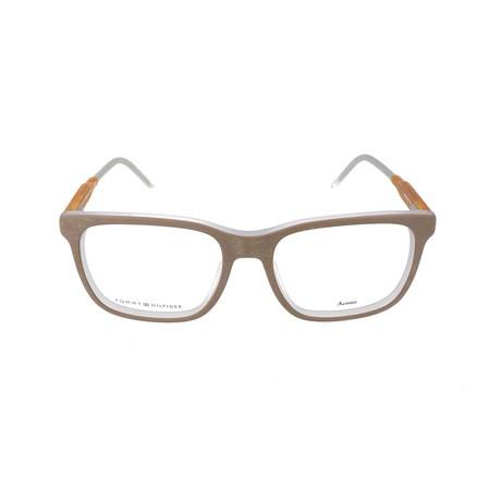 Men's 1392-QRI Optical Frames // Gray + Yellow (52mm)
