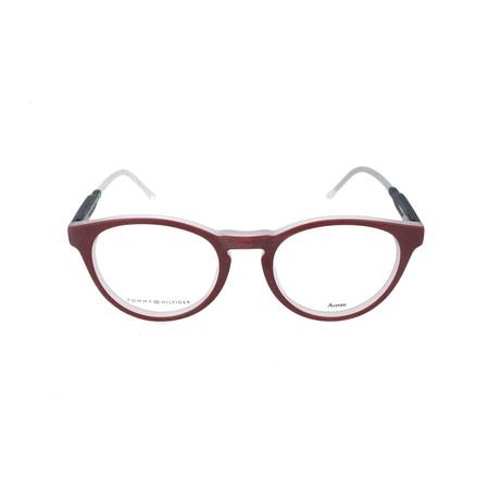 Men's 1393-QRM Optical Frames // Red + Black