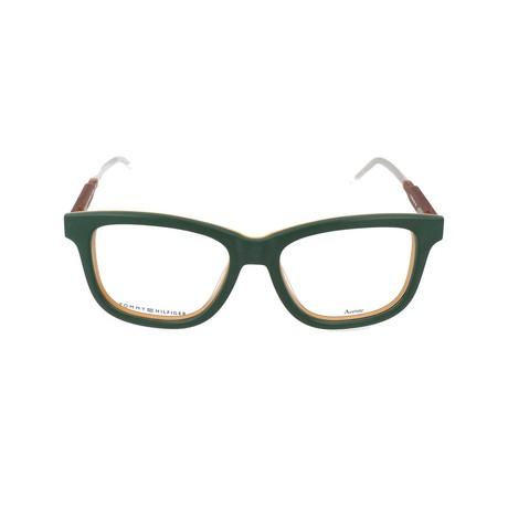 Men's 1353-K06 Optical Frames // Green + Mustard