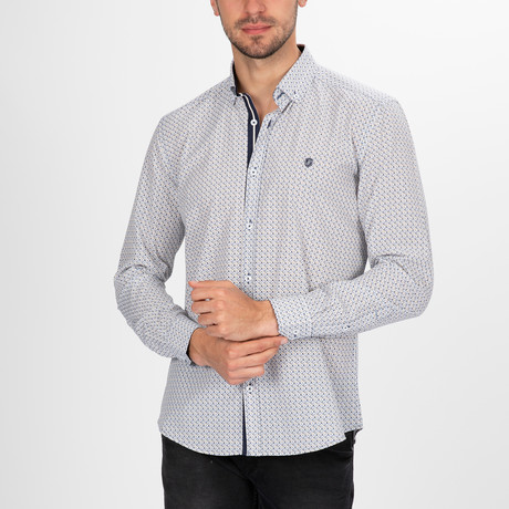 Charlton Button Down Shirt // White + Yellow (S)