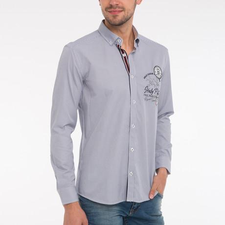 Henry Shirt // Navy Stripe
