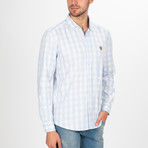 Maksymilian Button Down Shirt // White + Blue (S)