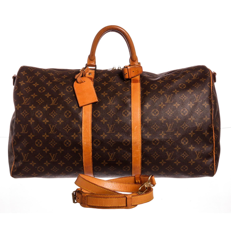 a4fc83cc6bbf Louis Vuitton    Monogram Keepall 55 Bandouliere Duffle Bag    FH0951
