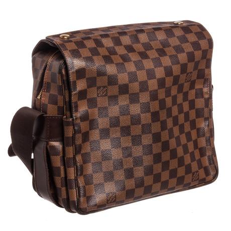 Louis Vuitton // Damier Ebene Naviglio Messenger Bag // SR0016