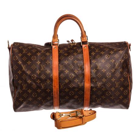 Louis Vuitton // Monogram Keepall 50 Bandouliere Duffle Bag // VI872