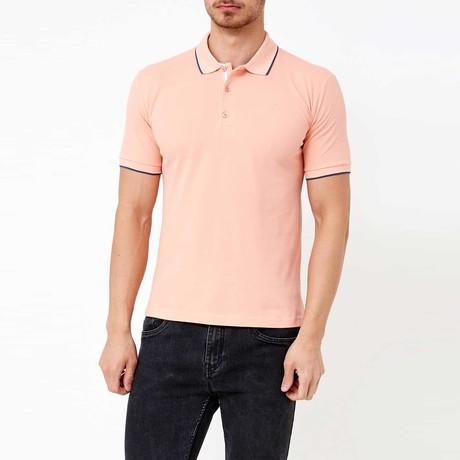Antonelli Polo T-Shirt // Salmon