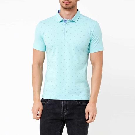 Jackson Polo T-Shirt // Aqua Green