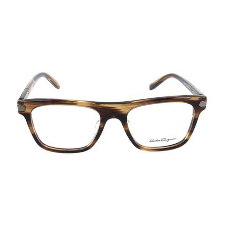 Men's SF2759 Optical Frames // Striped Brown