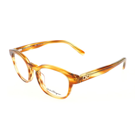 Salvatore Ferragamo // Men's Calvin Optical Frames // Striped Brown