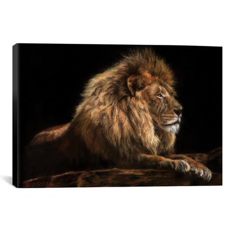 "Golden Lion // David Stribbling (26""W x 18""H x 0.75""D)"