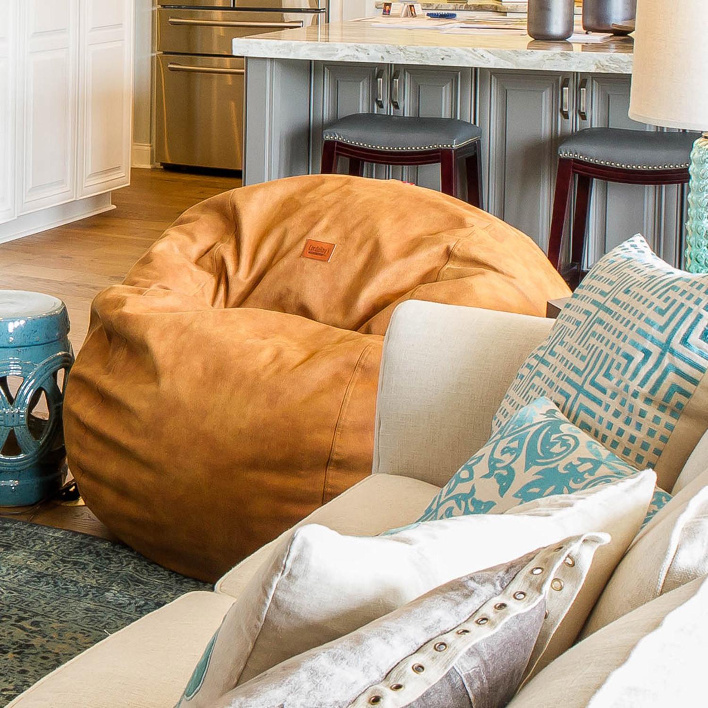Strange Convertible Bean Bag Chair Cowhide Cognac Full Ibusinesslaw Wood Chair Design Ideas Ibusinesslaworg