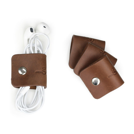 Genuine Leather Cord Snaps // Set of 4
