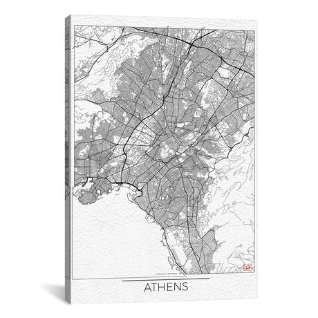 Athens Minimal Urban Blueprint Map // Hubert Roguski